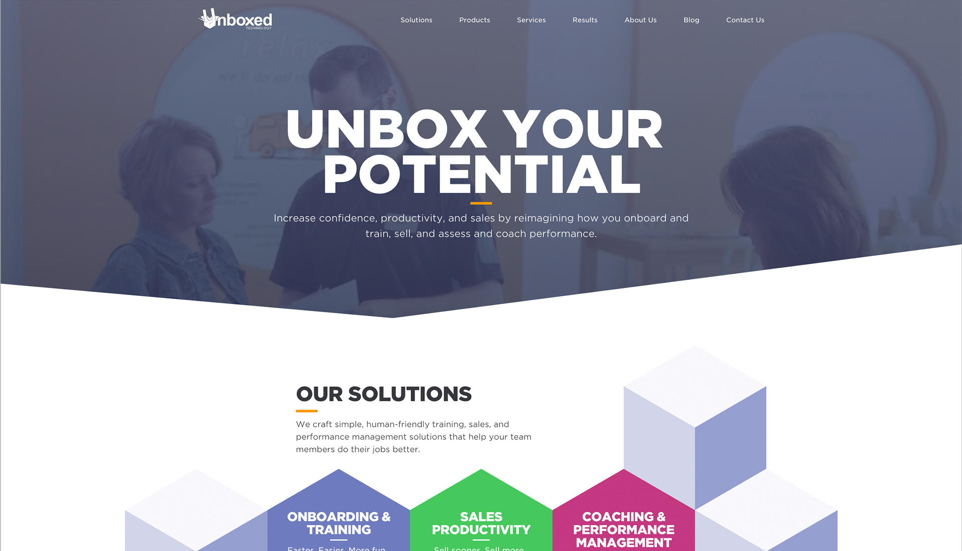 Unboxed Technology homepage